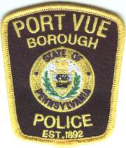 Port Vue Police Badge