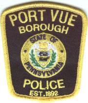Port Vue Police Badge